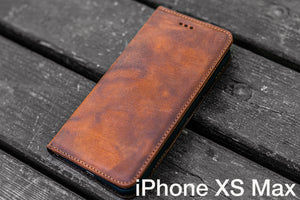 iPhone XS-MAX Leather Wallet Case - No.01-Galen Leather