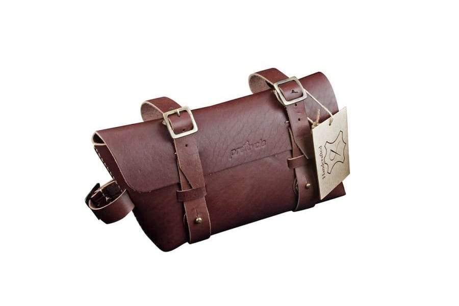 Leather Bicycle CrossBar Bag-Brown-Galen_Leather