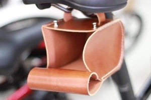 Leather Bicycle Saddle Bag Small-Tan-Galen_Leather