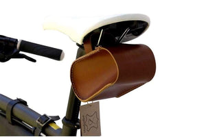 Leather Bicycle Saddle Bag Small-Brown-Galen_Leather