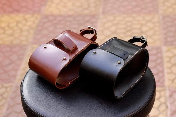 Leather Bicycle Saddle Bag Small-Black-Galen_Leather