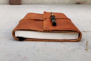Crazy Horse Tan Handmade Leather Journal