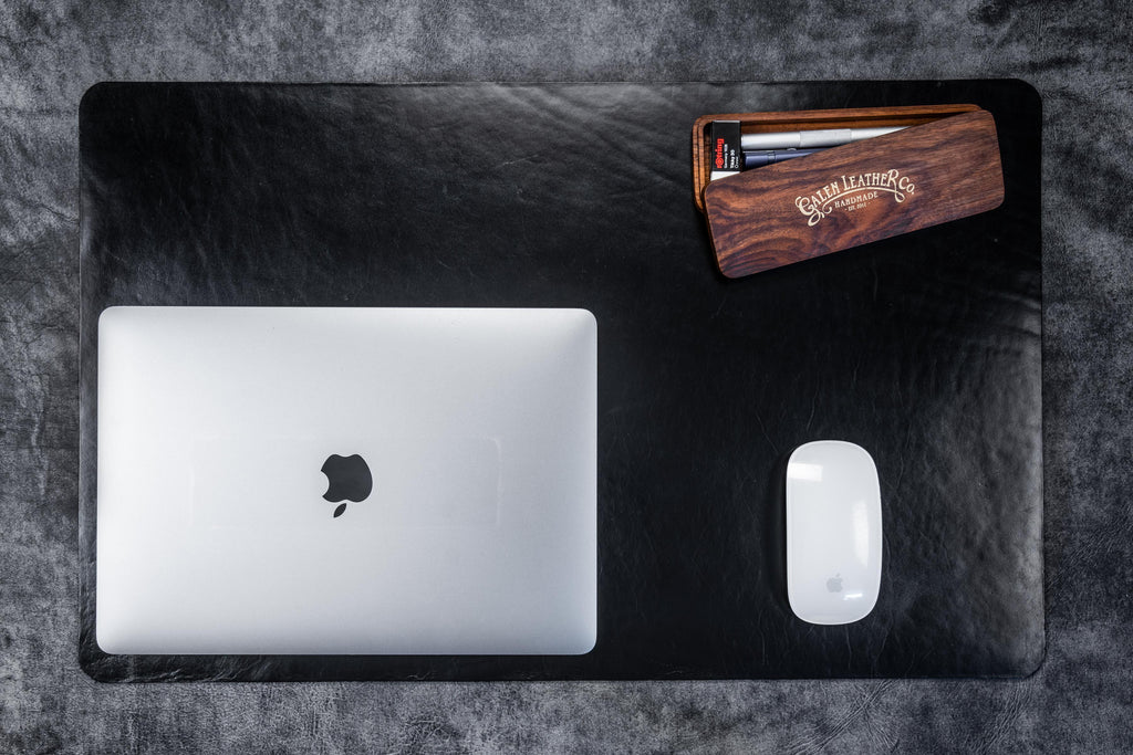 Leather Desk Pad-Black