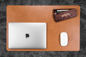 Leather Desk Pad-Natural