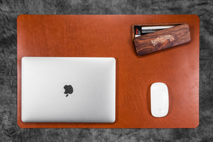 Leather Desk Pad-Brown