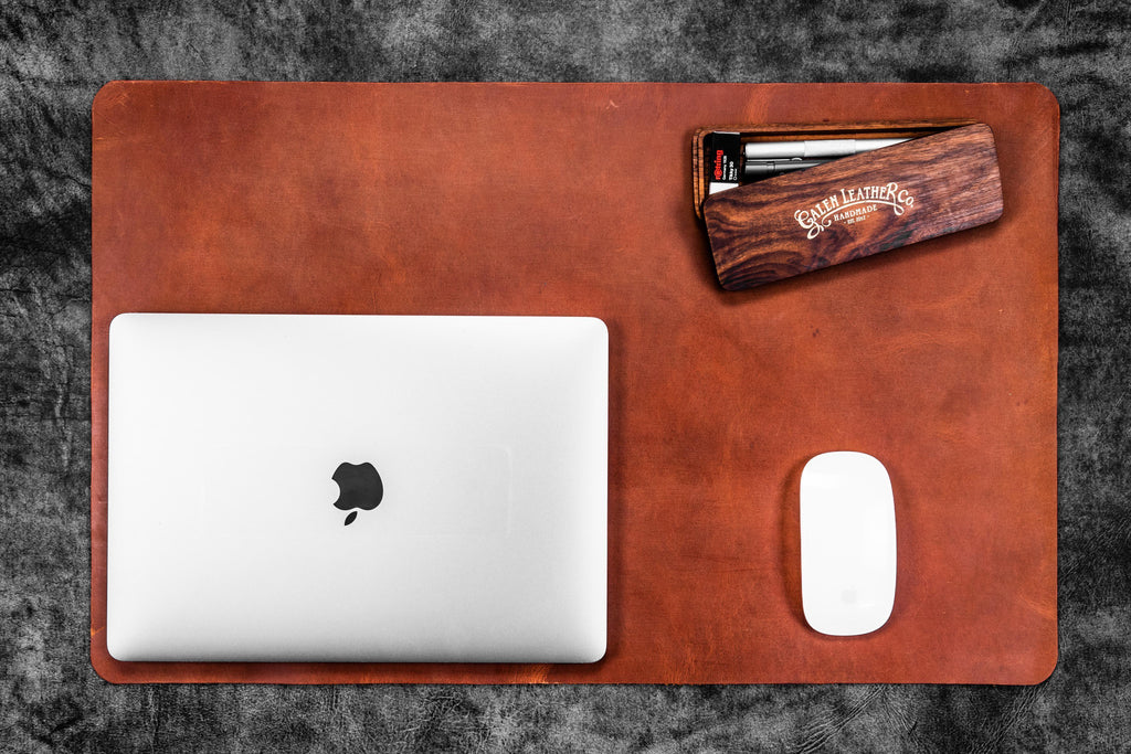 Leather Desk Pad-Crazy Horse Tan