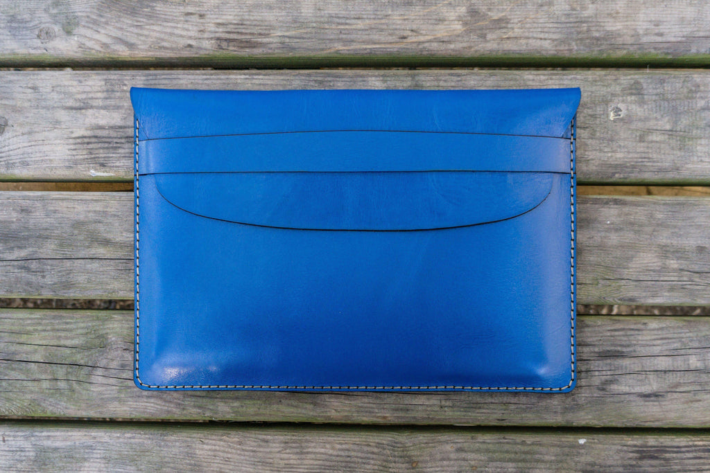 Leather Document Holder - Blue-Galen Leather