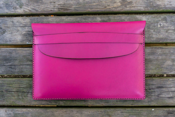 Leather Document Holder - Pink-Galen Leather