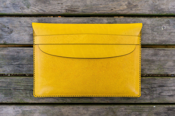 Leather Document Holder - Yellow-Galen Leather