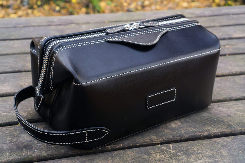 Leather Dopp Kit - Black-Galen Leather