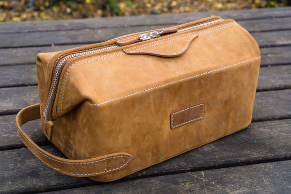 Handmade Leather Dopp Kit - Men s Toiletry Bag - Shop Galen Leather a5898a312ccf0