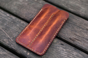 Leather Double Fountain Pen Case / Pen Sleeve - Crazy Horse Tan-Galen Leather