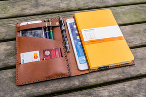 Leather Hobonichi Cousin A5 Planner Cover - Brown-Galen Leather