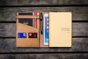 Leather Hobonichi Cousin A5 Planner Cover - Natural-Galen Leather