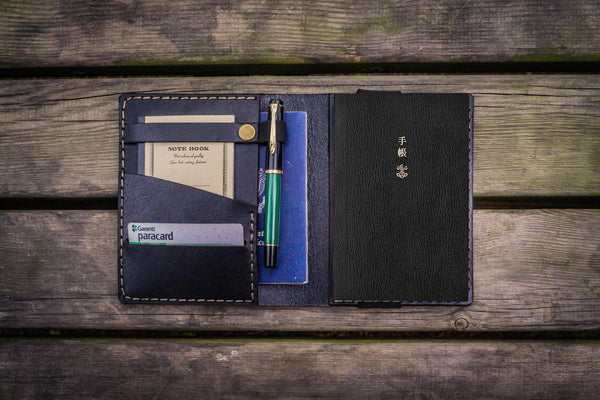 Leather Hobonichi Techo (A6) Planner Cover - Black-Galen Leather