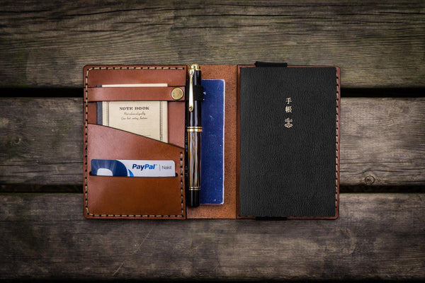 Leather Hobonichi Techo (A6) Planner Cover - Brown - GalenLeather - 1