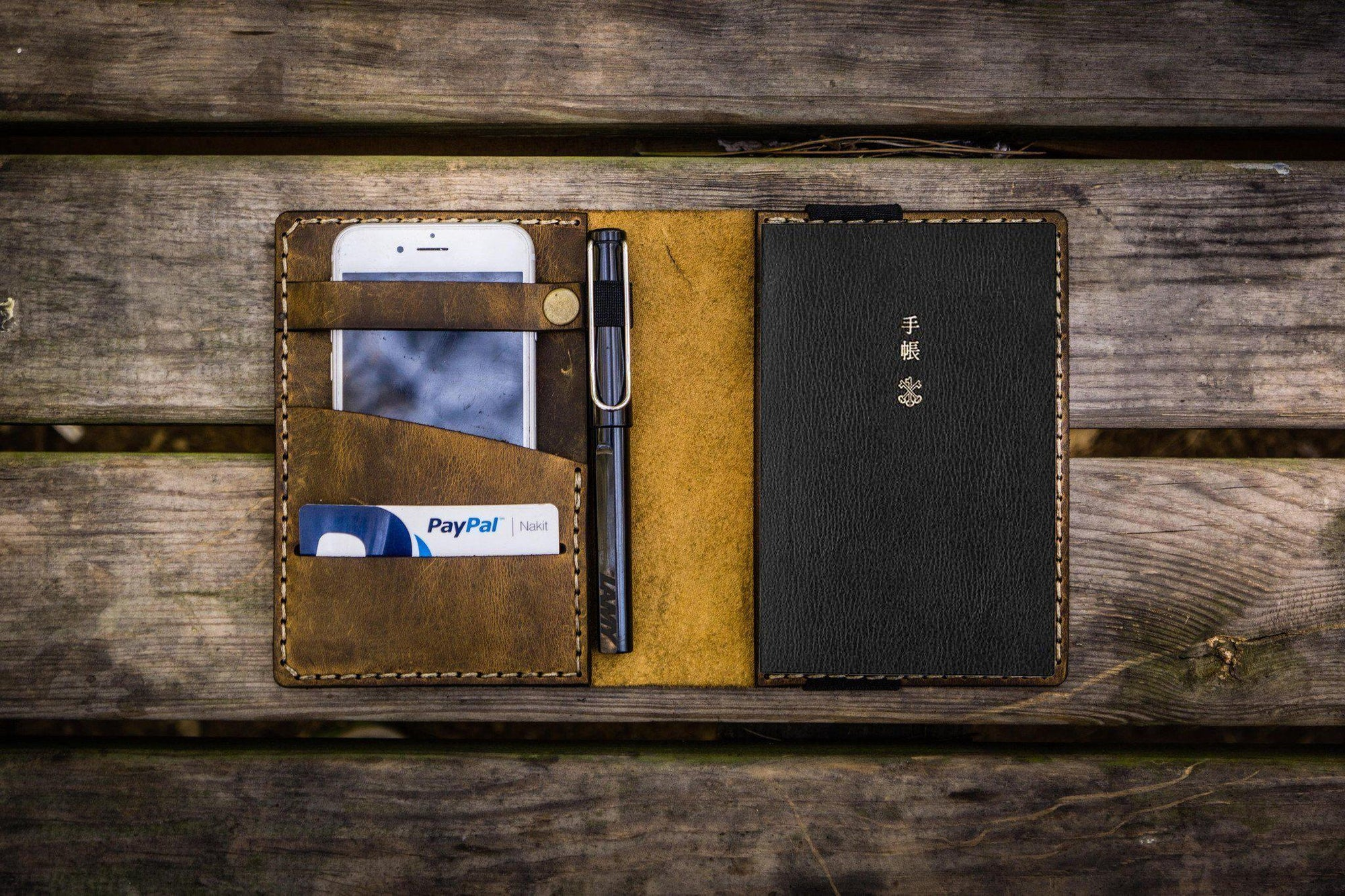 Leather Hobonichi Techo (A6) Planner Cover - Crazy Horse-Galen Leather