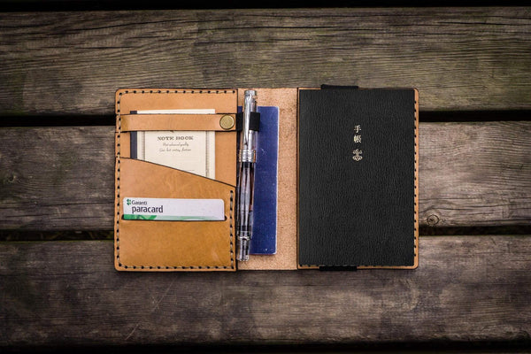 Leather Hobonichi Techo (A6) Planner Cover - Natural-Galen Leather
