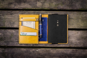 Leather Hobonichi Techo (A6) Planner Cover - Yellow - GalenLeather - 1