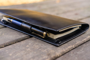 Leather Hobonichi Weeks Cover - Black-Galen Leather