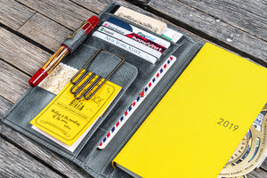 Leather Hobonichi Weeks Cover - Crazy Horse Smoky-Galen Leather