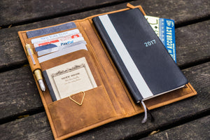 Leather Hobonichi Weeks Mega Cover - Crazy Horse Brown-Galen Leather