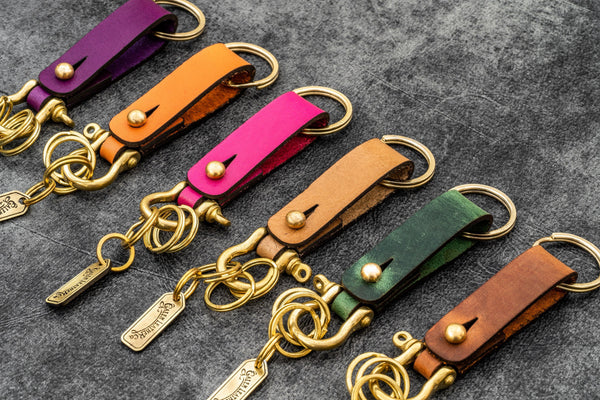 Leather Key Fob - California - Galen Leather