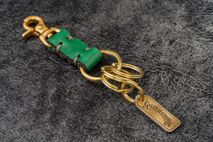 Leather Key Ring - New York-Green