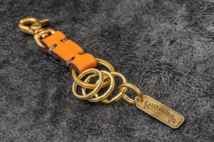 Leather Key Ring - New York-Orange