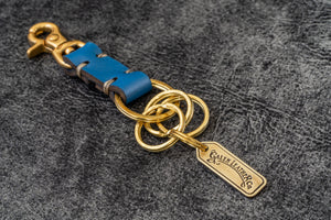 Leather Key Ring - New York-Blue