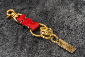 Leather Key Ring - New York-Red