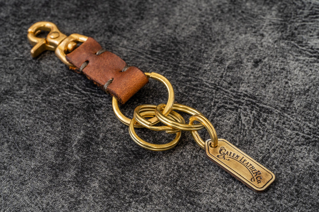 Leather Key Ring - New York-Crazy Horse Tan