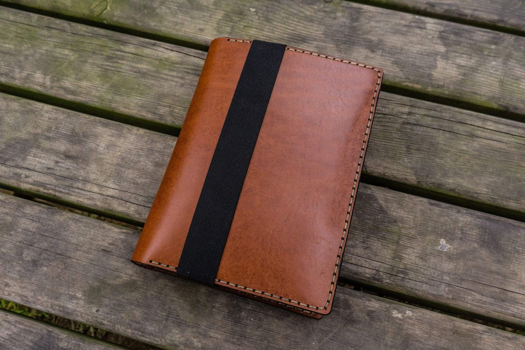 Leather Leuchtturm1917 A5 Notebook Cover - Brown - Galen Leather