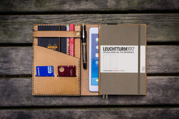 Leather Leuchtturm1917 A5 Notebook Cover - Natural-Galen Leather