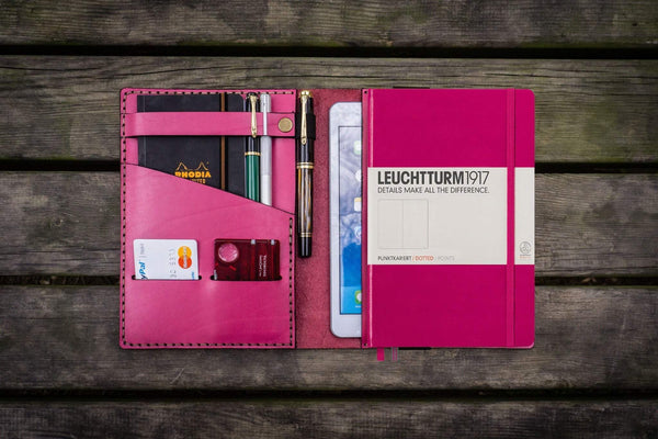 Leather Leuchtturm1917 A5 Notebook Cover - Pink-Galen Leather