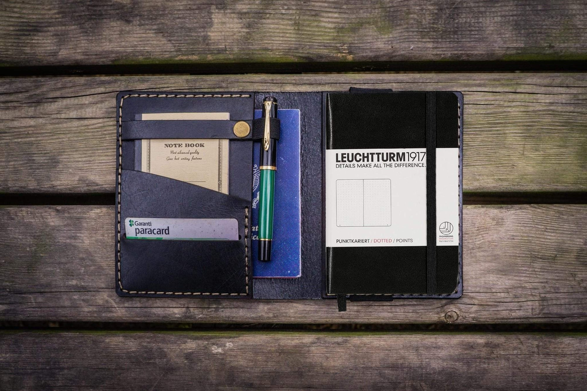 Leather Leuchtturm1917 A6 Notebook Cover - Black-Galen Leather