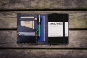 Leather Leuchtturm1917 A6 Notebook Cover - Black - GalenLeather - 1