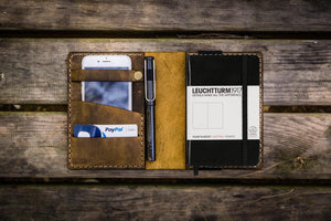 Leather Leuchtturm1917 A6 Notebook Cover - Crazy Horse Brown - GalenLeather - 1