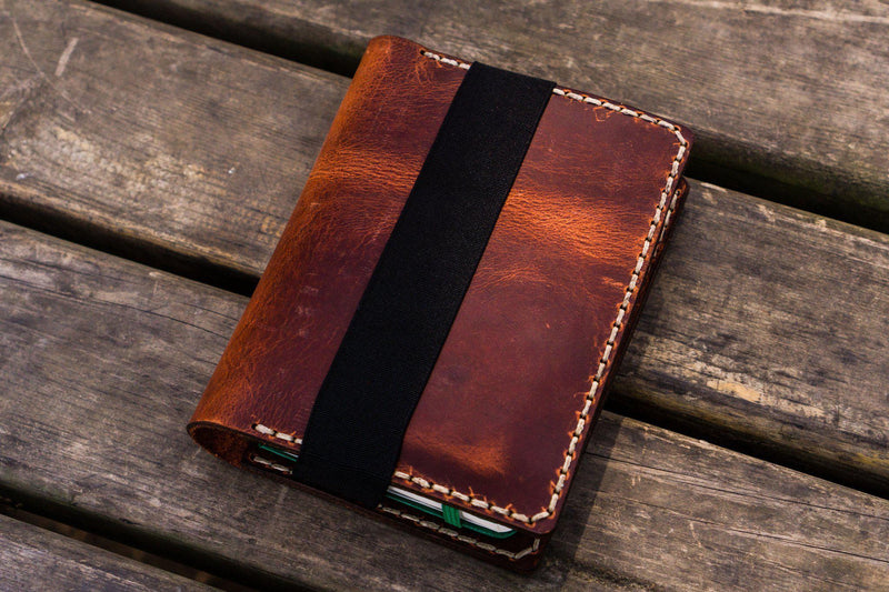 Leather Leuchtturm1917 A6 Notebook Cover - Crazy Horse Orange-Galen Leather