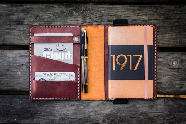 Leather Leuchtturm1917 A6 Notebook Cover - Crazy Horse Tan-Galen Leather