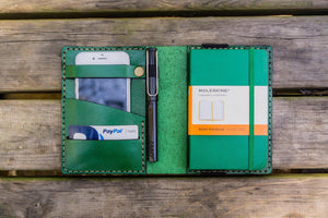 Leather Leuchtturm1917 A6 Notebook Cover - Green-Galen Leather