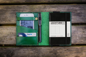 Leather Leuchtturm1917 A6 Notebook Cover - Green - GalenLeather - 1