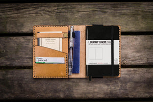 Leather Leuchtturm1917 A6 Notebook Cover - Natural - GalenLeather - 1