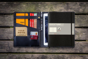 Leather Leuchtturm1917 B5 Notebook & iPad Air/Pro Cover - Black-Galen Leather