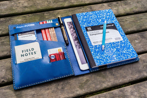Leather Leuchtturm1917 B5 Notebook & iPad Air/Pro Cover - Blue-Galen Leather