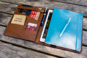 Leather Leuchtturm1917 B5 Notebook & iPad Air/Pro Cover - Brown-Galen Leather