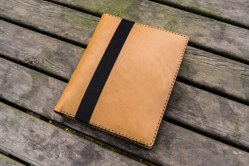Leather Leuchtturm1917 B5 Notebook & iPad Air/Pro Cover - Natural-Galen Leather