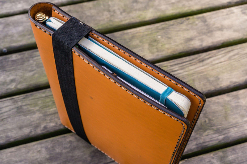 Leather Leuchtturm1917 B5 Notebook & iPad Air/Pro Cover - Orange-Galen Leather