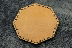 Natural Leather Magnetic Tidy Octagon - Galen Leather