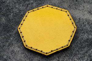 Yellow Leather Magnetic Tidy Octagon - Galen Leather